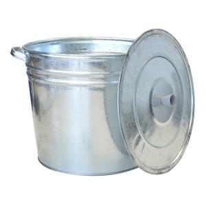 Eimer 32 Liter aus Stahlblech verzinkt mit Deckel