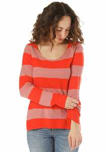 Vila Vikatay Knit New Stripe - Strickpullover für Damen - Rot