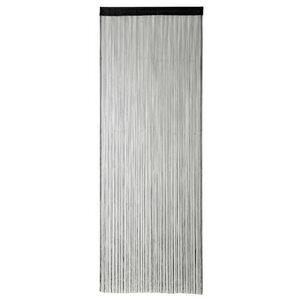 Fadenvorhang in Schwarz 90 x 250 cm