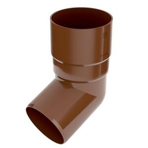 Fallrohrbogen 90mm abgewinkelt PVC braun Fallrohrverbinder Regenrinne