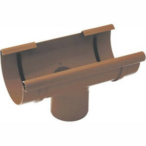 Dachrinnenstutzen 100/90 mm mit Gummidichtung aus PVC