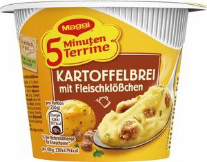 Maggi Kartoffelbrei mit Fleischklößchen 5 Minuten Terrine 46 g
