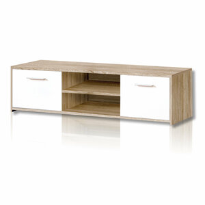 TV-Unterschrank - Sonoma Eiche-weiß - 136 cm breit