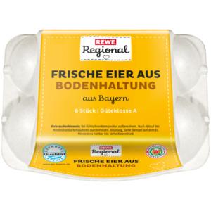"REWE Regional Eier Bodenhaltung M-L ""GQB"", 6 Stück"