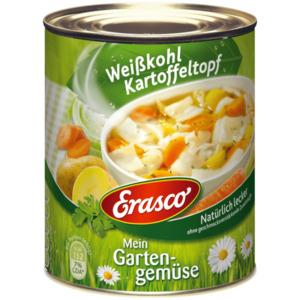 Erasco Mein Gartengemüse Weißkohl-Kartoffeltopf 800g