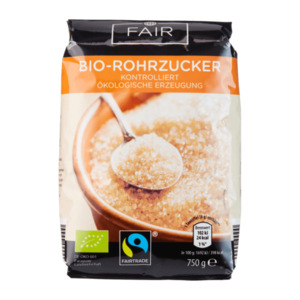 FAIR  	   Bio-Rohrzucker, Fairtrade