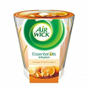 Air Wick Essential Oils Duftkerze Orange & Festliche Gewürze 105g