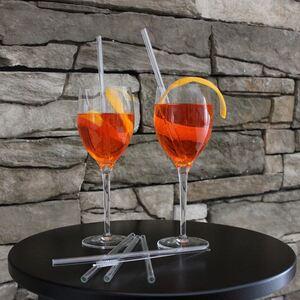 Glas-Trinkhalme 20cm mit Reinigungsbürste 5-teilig