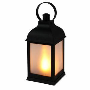 LED-Laterne mit Milchglas-Optik und Flackereffekt Warmweiß