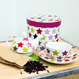 Teekannen-Set mit XXL-Tasse und Geschenkbox