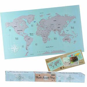 Weltkartenposter zum Freirubbeln 88x52cm