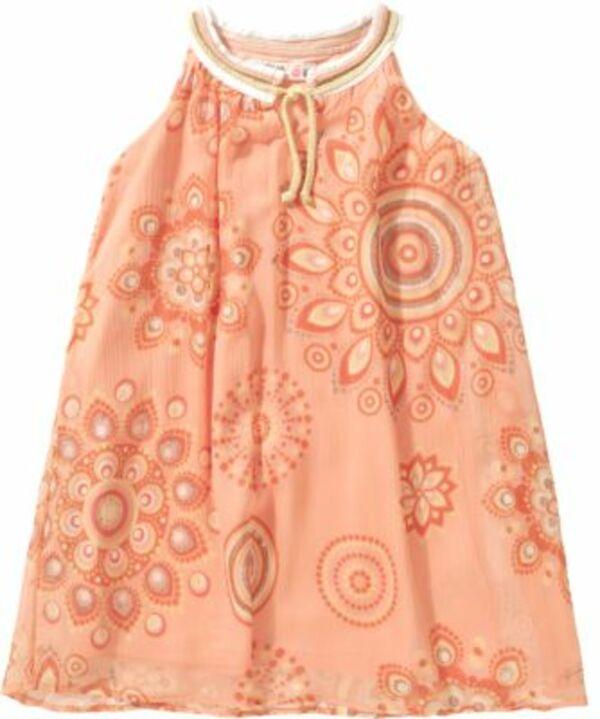 Kinder Kleid orange Gr. 122/128 Mädchen Kinder