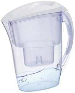 XavaX Wasserfilterkanne mit Filterkartusche weiss