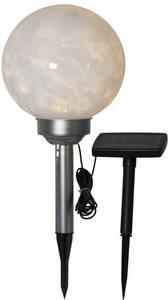 LED Solar Kugel Luna ,weiß, mit Solarpanel Best Season