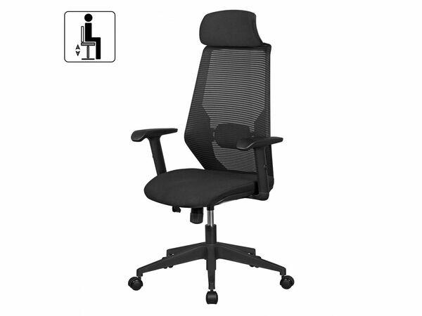 AMSTYLE NetStar - Bürostuhl Stoff-Sitzfläche schwarz Schreibtischstuhl Drehstuhl
