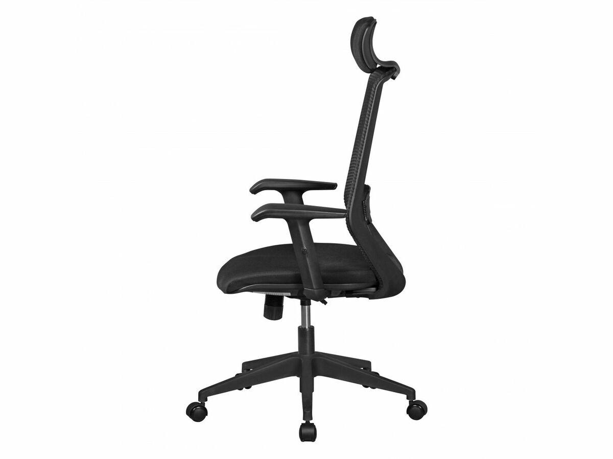 Bild 2 von AMSTYLE NetStar - Bürostuhl Stoff-Sitzfläche schwarz Schreibtischstuhl Drehstuhl
