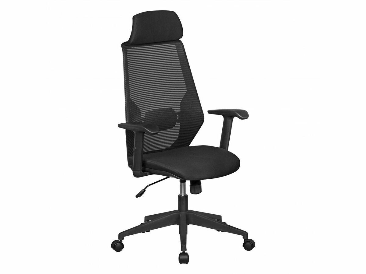 Bild 4 von AMSTYLE NetStar - Bürostuhl Stoff-Sitzfläche schwarz Schreibtischstuhl Drehstuhl