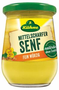 Kühne Senf mittelscharf im Glas 250 ml