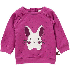 Newborn Sweatshirt mit Hasen-Applikation