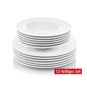 CREATABLE Tafelservice 12-teiliges Set ECLIPSE Porzellan weiß