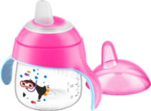 "Philips AVENT Trinkbecher ""Pinguin"", Sip No Drip 200ml, ab 6 Monate, pink"