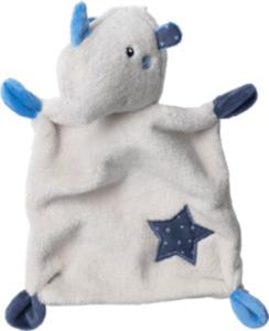 PUSBLU Schmusetuch, Nashorn, grau, blau, Stern