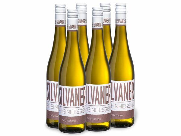 6 x 0,75-l-Flasche Weinpaket Silvaner Rheinhessen QbA halbtrocken, Weißwein