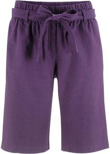 Leinen-Shorts mit Bindeband