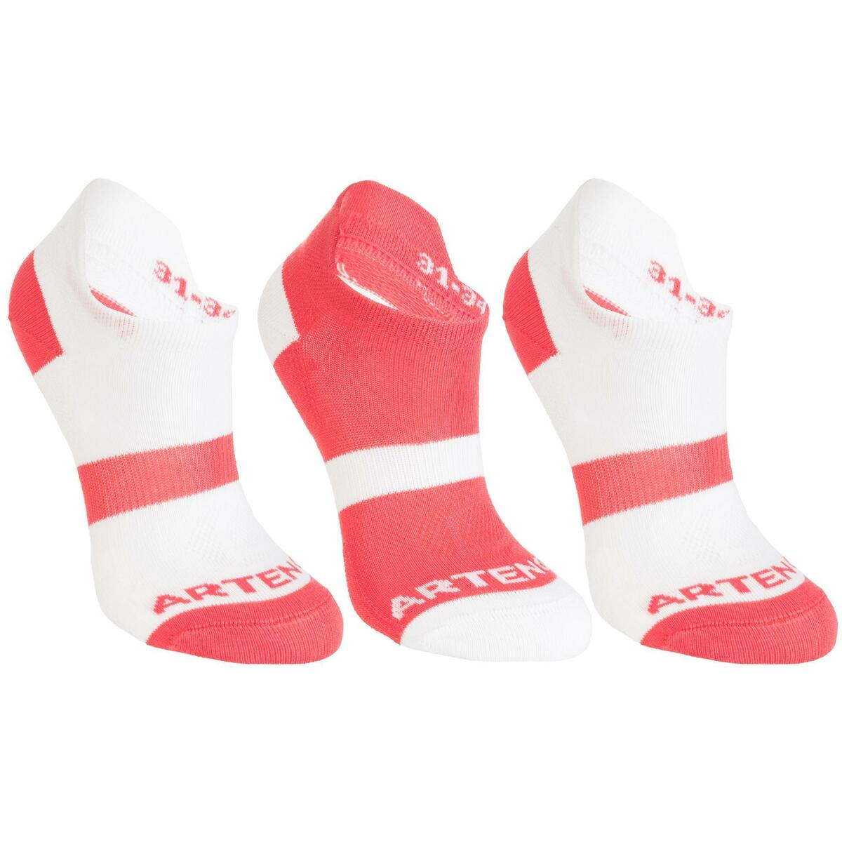 Bild 1 von Tennissocken RS 160 Low Kinder 3er-Pack weiß/rosa