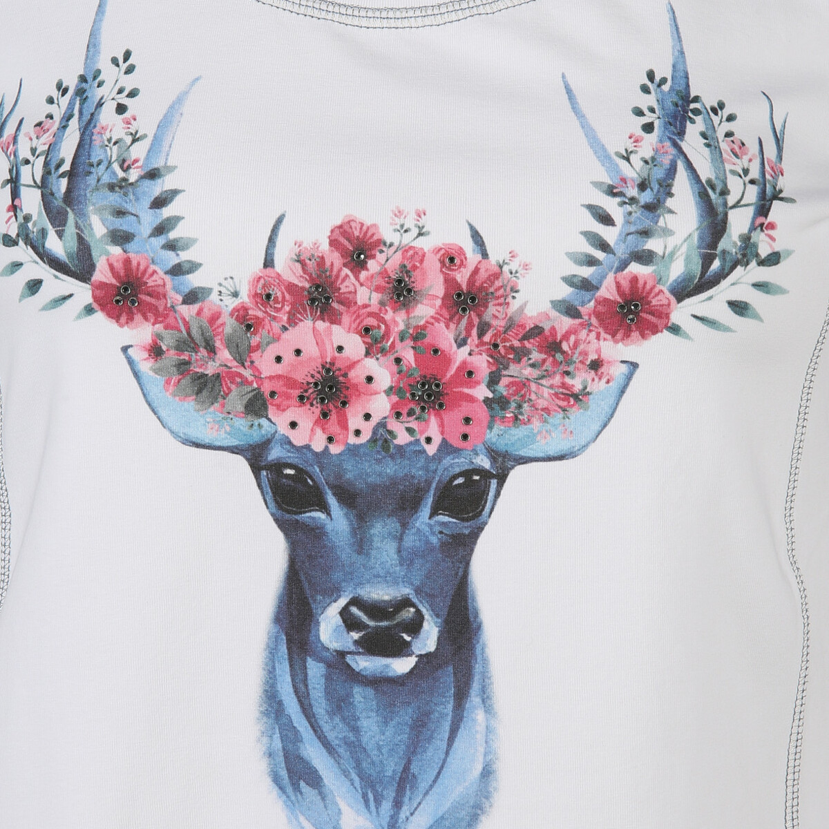 Bild 3 von Damen Trachtenshirt mit Print und Strass