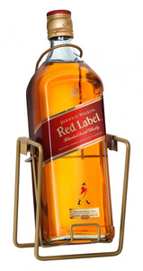 Johnnie Walker Red Label Old Scotch Whisky  - 3 L mit Schwenkständer