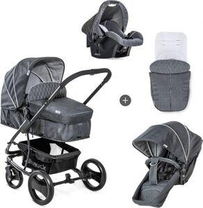 Hauck Shop N Drive Kombi - Kinderwagen Set - Melange Charcoal