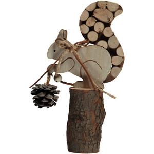 Deko-Eichhörnchen aus Holz 10x20cm