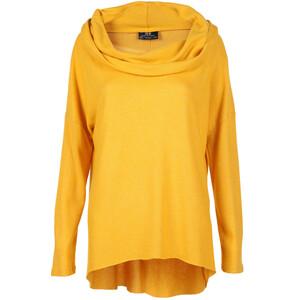 Damen Feinstrick Pullover mit Waserfallausschnitt