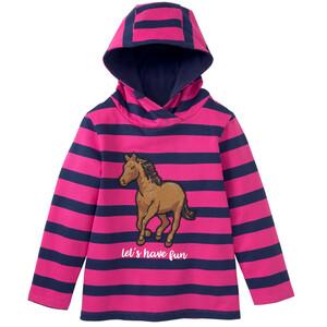 Mädchen Sweatshirt mit Pferde-Motiv