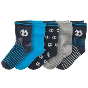 5 Paar Jungen Socken mit Fußball-Motiven