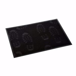 acerto® Schmutzfangmatte SCHUHE schwarz 40x60cm
