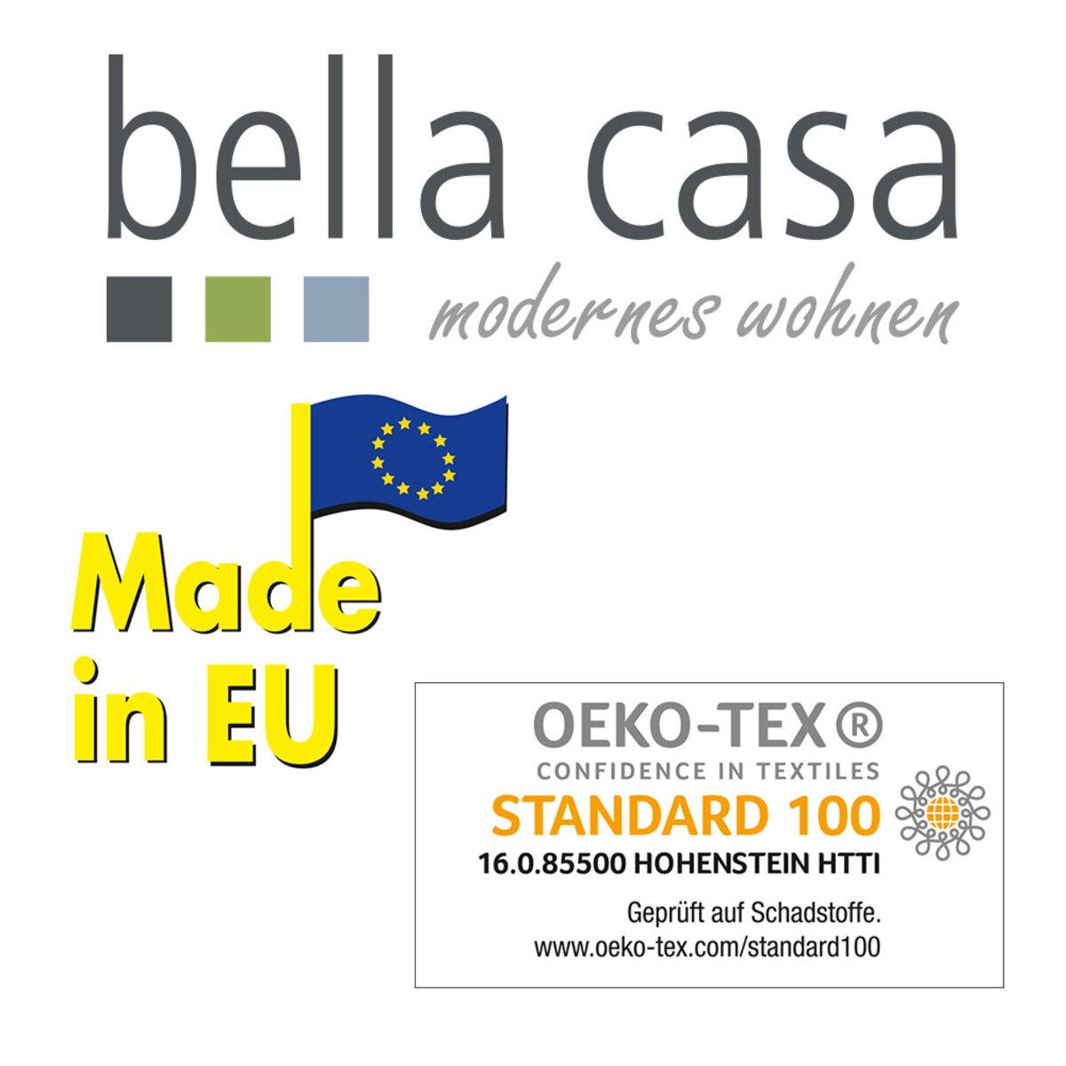 """Bild 3 von Bella Casa Webpelzoptik-Kissen """"Fox"""" 45x45cm Silber"""