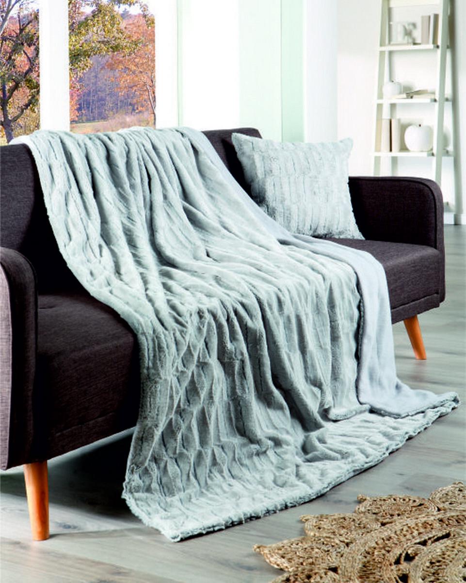 """Bild 1 von Bella Casa Webpelzoptik-Decke """"Fox"""" 150x200cm silber"""
