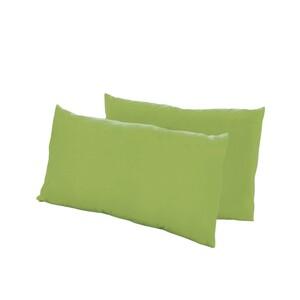 Dreamtex Nicki-Kissenbezüge 40x80cm 2er Pack, grün