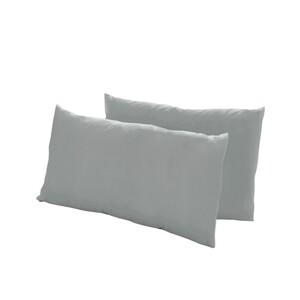 Dreamtex Nicki-Kissenbezüge 40x80cm 2er Pack, dunkelgrau