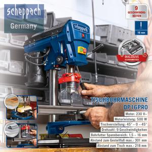 Scheppach Tischbohrmaschine DP16Pro