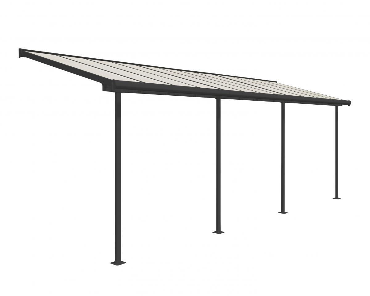Bild 1 von Palram Terrassenüberdachung Sierra 230x670 cm grau