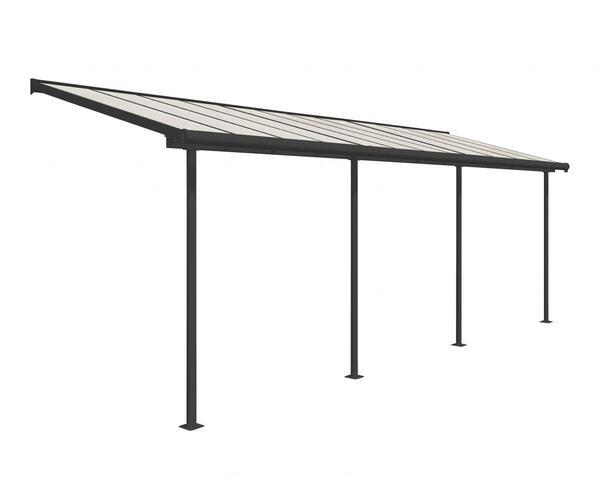 Palram Terrassenüberdachung Sierra 230x670 cm grau
