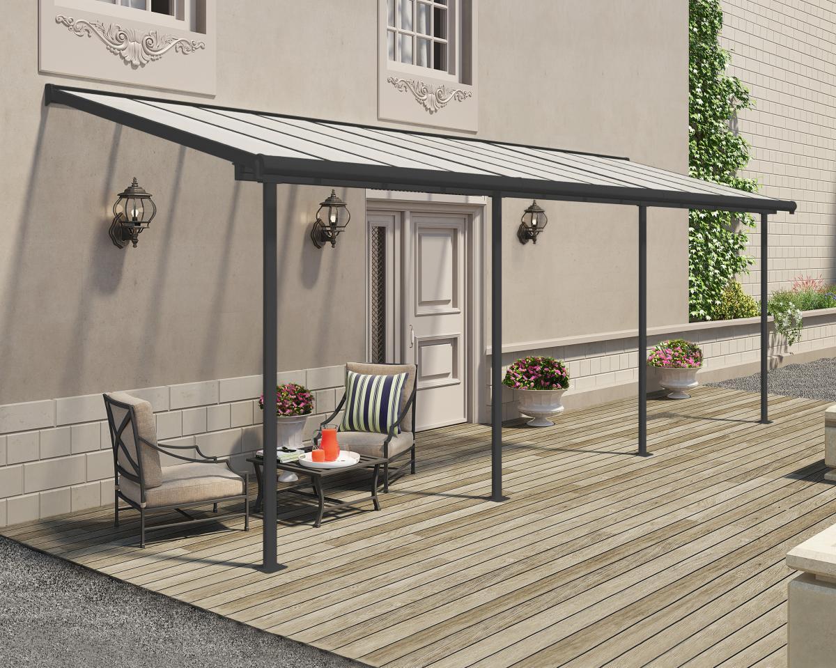Bild 2 von Palram Terrassenüberdachung Sierra 230x670 cm grau