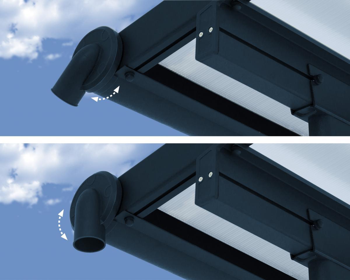 Bild 3 von Palram Terrassenüberdachung Sierra 230x670 cm grau