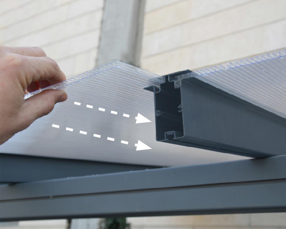 Bild 4 von Palram Terrassenüberdachung Sierra 230x670 cm grau