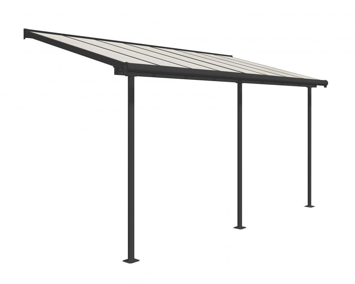 Bild 1 von Palram Terrassenüberdachung Sierra 230x447 cm grau