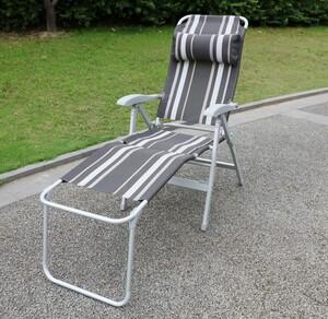 Solax-Sunshine Aluminium Camping Relaxstuhl mit Beinauflage