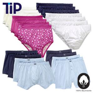 Damen- oder Herren-Unterwäsche Mehrstückpackungen, versch. Modelle und Größen, je